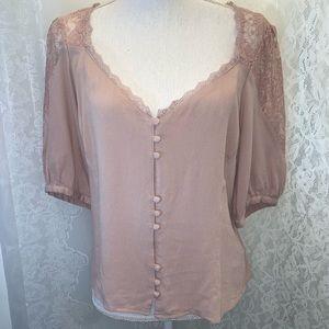Free People pink blush blouse